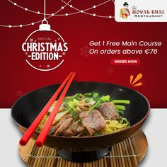 Order your favourite oriental meals at best price. Food made special... . . . . #Christmas #ChristmasSpecial #OnlineOrder #FreeDelivery #Thai #ThaiFoods #ThaiDishes #Cuisines #FoodPorn #Foodie #ThaiCuisine #Restaurant #Yummy #Delicious #ThaiFoodLover #FoodLovers #FoodBlogger #SeaFood #ThaiRestaurant #RoyalThai #HygienicEnvironment Best Thai Restaurant, Authentic Thai Food, Restaurant Specials, Thai Dishes, Thai Recipes, Amsterdam, Seafood, Oriental, Food Porn