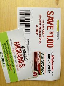Coupon and information received on Excedrin and the My Migraine Triggers app. #DRExcedrin