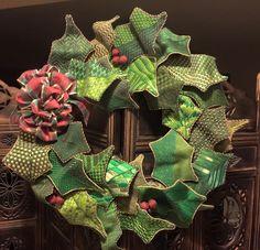 Needlepoint wreath