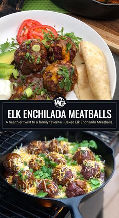 A healthier twist to a family favorite - Baked Elk Enchilada Meatballs. Enchiladas are a family favorite especially with a delicious homemade red enchilada sauce made in minutes. So I thought why not change things up a bit for one of our favorites and by-pass the flour or corn tortillas and focus on the MEAT!