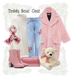 """""""The Blushing Bear"""" by auntmidnight ❤ liked on Polyvore featuring Lands' End, TravelSmith, Citizens of Humanity, Gund, MKF Collection and teddybearcoats"""
