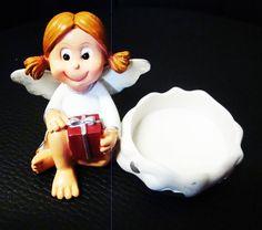 Teelichthalter / Kerzenständer Engel Figur / Deko / Weihnachten / Advent