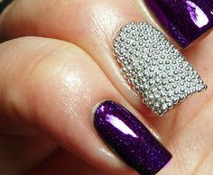 Looking for some decent yet elegant Caviar Nail Art designs to get inspired from? Browse latest Caviar nail art designs, caviar nails patterns and ideas. Gel Nails At Home, Manicure At Home, Nail Manicure, Nail Polish, Diy Caviar Nails, Shellac, Cute Nails, Pretty Nails, Diy Pedicure