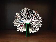 Paper art - book recycling