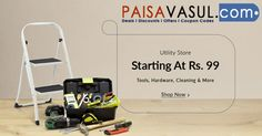 Snapdeal Offer: Get Tools, Hardware, Cleaning and Many More starting just at Rs.99 http://www.paisavasul.com/code/snapdeal-offer-get-at-rs-99-on-utility-store