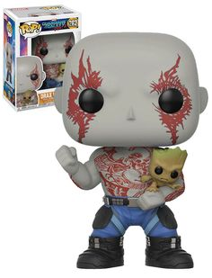 Funko POP! Marvel Guardians Of The Galaxy Vol. 2 #262 - Drax With Groot #Funko #FunkoPop #Marvel #GuardiansOfTheGalaxy #Collectibles