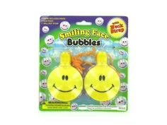 Smiling face bubble necklaces - Case of 24 by bulk buys. $43.99. Width: 11. Height: 11. Great Gift Idea.. Length: 11. Dimensions:. These happy faces are sure to get everyone smiling. These happy face bubble necklaces include a cord for the neck and a bottle of bubbles that conceals itself in the happy face. These bubbles are non-toxic and non-staining and a wand is included inside the happy face bottle. Ideal for party favors or just for fun, these bubble necklaces include s...