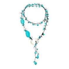 Cotton Pearl/ Quartz/ Mother of Pearl Wrap Lariat Necklace (3-6 mm) (Thailand)   Overstock.com Shopping - The Best Deals on Necklaces