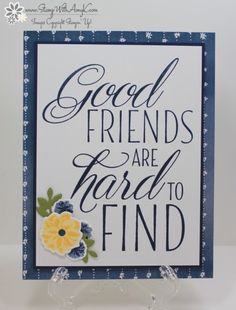 Lovely Friends Bundle – Hand Stamped Cards with Josee Smuck-Stampin' Up! Making Greeting Cards, Greeting Cards Handmade, Stampin Up Catalog 2017, Stampin Up Canada, Cards For Friends, Friend Cards, Hand Stamped Cards, Friendship Cards, Creative Cards