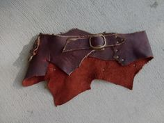 Brick Red Leather Utility Belt 32-36 by ArchaicLeatherworks