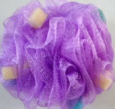 Bathery Polka Dot Nylon Bath Sponge with Strap, Lavender by Bathery. $7.99. Plush, Thick, Bath Sponge with Colorful Foam Incerts Which Multiply Foaming Action. Sponge is Recyclable. Grip Cord. The Netted Material Cleans Your Skin with Lather and Extends the Life of Your Favorite Soap. Hangs to Dry. Whip up lots of rich, creamy lather in your shower or bath with this essential mesh body sponge!