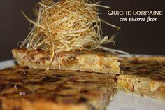 Classic quiche lorraine con puerros fritos - Bavette Quiche Lorraine, 20 Min, Recipe For 4, Empanadas, Waffles, Bread, Chicken, Breakfast, Gastronomia
