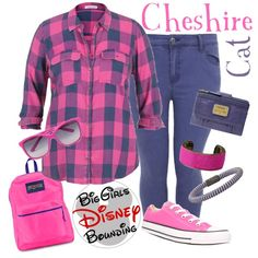 Cheshire Cat Disney Bounding Plus Size by bgdisneybound on Polyvore featuring polyvore, fashion, style, maurices, Converse, FOSSIL, JanSport, Carolina Bucci, Isabel Marant and Dolce&Gabbana