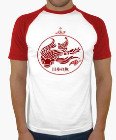japanese fish Tshirt, inspired in the traditional Japanese art