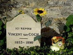 Vincent van Gogh's grave in Auvers-sur-Oise, Paris France