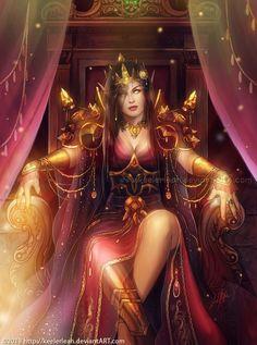 WoW: BloodElf ThroneRoom by keelerleah