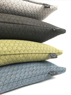 New collection, interior pillows. Honeycomb 60x40cm and 50x50cm. www.studiohuq.nl, Soon available. Info; info@studiohuq.nl