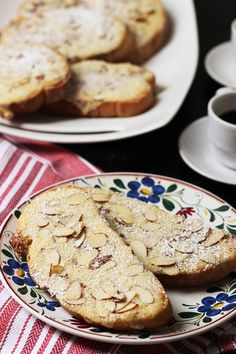These Sweet Almond Toasts are like the French Bostock, but with less expensive ingredients and a simpler preparation -- and with all the great almond flavor and texture.  Sweet Almond Toasts (Poorman's Bostock) http://goodcheapeats.com/2016/06/sweet-almond-toasts-poormans-bostock/