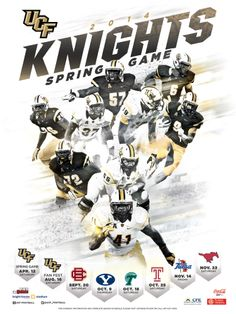 2014 Spring Football Poster