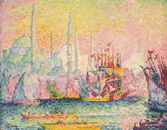 Constantinople (Corne d'Or). Paul Signac (1863-1935)  Constantinople (Corne d'Or)  signed and dated 'P. Signac 1909' (lower left)  oil on canvas   (73 x 92 cm.)  Painted in 1909