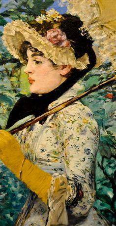 Artemis Dreaming, Spring, 1881 Edouard Manet Detail