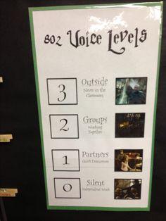 Harry Potter Classroom-Voice Levels