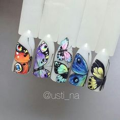 Hand painted butterflies...incredible detail and amazing creativity!