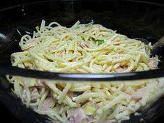 Spaghettisalat mit Schinken und Lauch, ein beliebtes Rezept aus der Kategorie Fleisch & Wurst. Bewertungen: 10. Durchschnitt: Ø 4,5.