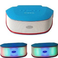 BraveGo -Wireless Portable Sport Bluetooth Speaker Color Flash LED Light KTV Disco Stage Effect (Blue 2). You can connect your phone, computer(laptop or desktop computer to a adapter; If no bluetooth speaker, you still can connect it through the AUX Line) and other enabled devices; Effective distance of 10 meters. Support phone call function, Hand free call, TF card, USB card slot, radio FM, Bluetooth speaker, MP3 Player; Can play MP3 MP4 WMA WAV DVD VCD CD PMP, all kinds of games and so…