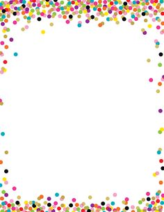 Confetti Blank Chart Confetti Blank Chart,weinert Convenient, useful learning tools that decorate as they educate! Each chart measures by Related lessons and activities are provided on the back of every chart. Borders For Paper, Borders And Frames, Borders Free, Page Borders Design, Border Design, Confetti Background, School Frame, Flower Backgrounds