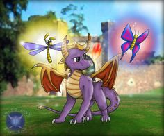 Spyro and the Butterfly by ~Tatsudoshi999 on deviantART