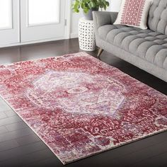 "Bungalow Rose Kamil Pink / Purple Area Rug Rug Size: Runner 2'7"" x 6'7"""