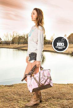 Realtree Girl Pink Camo Studded Tote Handbag   #Realtreegirl