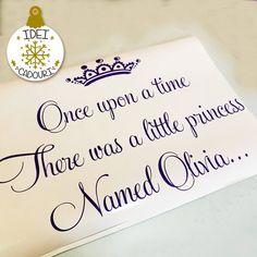 Un cadou excelent pentru o proaspata mamica. Un sticker personalizat Little Princess, Names, Decor, Decoration, Decorating, Deco