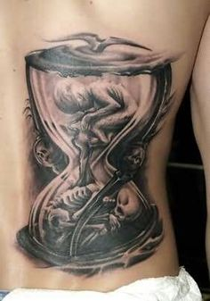Baby-Skeleton-In-Hourglass-Tattoo-On-Back.jpg (282×403)