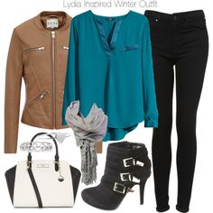 """""""Lydia Inspired Winter Outfit"""" by veterization on Polyvore"""