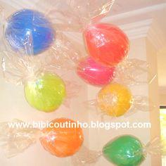 Candy Ballons! By www.bibicoutinho.com.br