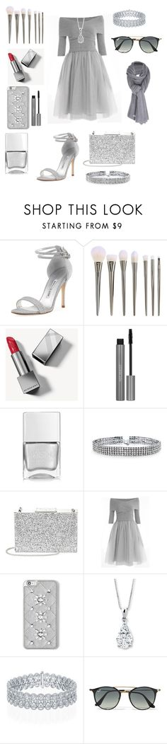 """""""Do you wanna dance"""" by lgroezinger-1 ❤ liked on Polyvore featuring Manolo Blahnik, Burberry, Nails Inc., Bling Jewelry, Aspinal of London, MICHAEL Michael Kors, Ray-Ban and Care By Me"""