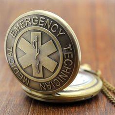 Emergency Technician Medical Pattern Pocket Watch