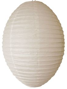 "Decorate your home or event with this unique oval paper lantern! Oval White Paper Lantern 12"" D x 18"" H"