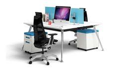san fran ergonomic 2 person workstation desk chrome leg modern stylish and affordable