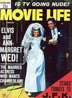 """""""Viva Las Vegas"""" When the wedding scene was filmed,   many tabloid magazines at time published photos of the """"wedding"""" and suggested that   Elvis Presley and Ann-Margret really had gotten married."""