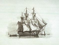 """Tonnant-class HMS """"Canopus"""", formerly known as """"Franklin"""", in British service from 1798 until broken up in 1887, a real credit for a ship builder"""