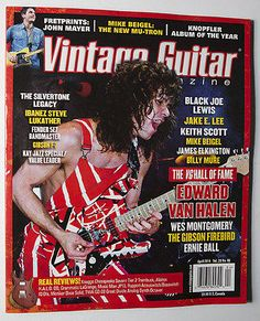 New April 2014 VINTAGE GUITAR Magazine EDDIE VAN HALEN John Mayer Jake E Lee