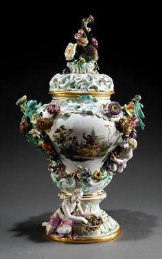 Potpourri Catalog | lot 146 meissen figural porcelain potpourri urn view catalog