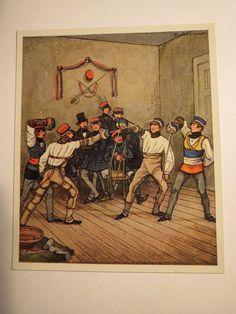 Mensur Paukboden VON 1815 1850 Sammelbild Studentika   eBay