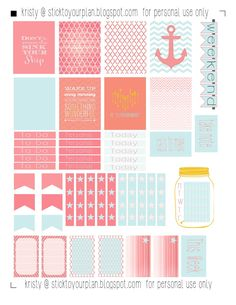 stick to your plan, free printable for personal use only - fits erin condren life planner