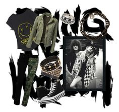 A fashion look from September 2013 featuring shirt top, military anorak jacket and rock-revival skinny jeans. Browse and shop related looks. Anorak Jacket, Rock Revival, Lanvin, Concerts, Valentino, Mango, Forever 21, My Love, Metal