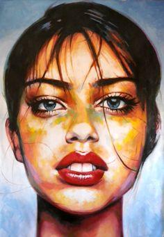 Big close up color 210/150cm Oil on canvas