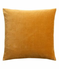 Velvet cushion covers | H BOUGHT 29.08.2013, in mustard yellow & light grey